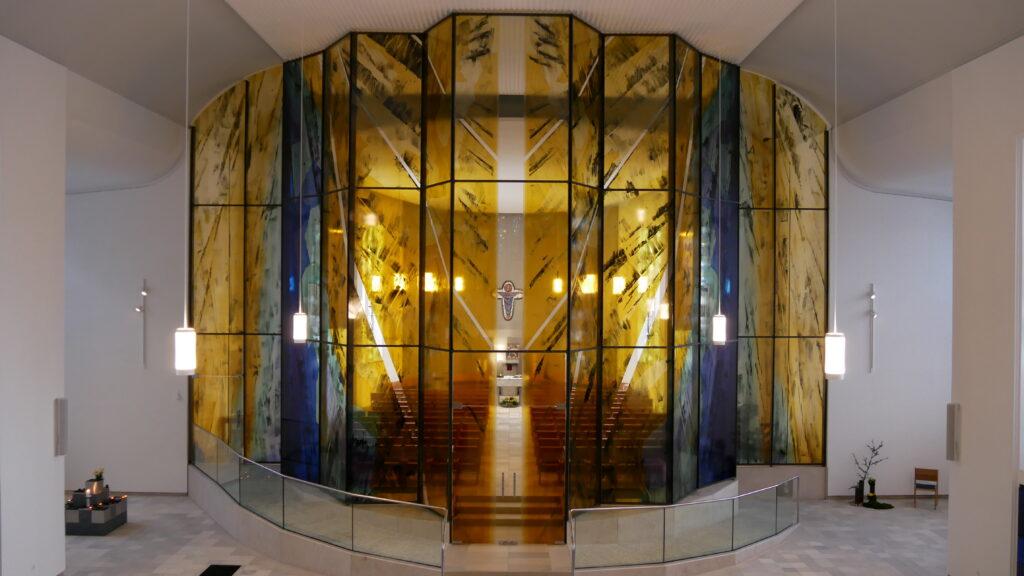 Die Glaswand / Kathedralwand (Bildnachweis Tanja Wagener)